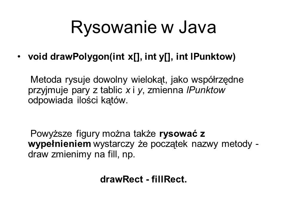 Rysowanie w Java void drawPolygon(int x[], int y[], int lPunktow)